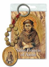 St Francis Olive Wood Single Decade