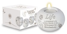 Life Candle with Tea Light Included