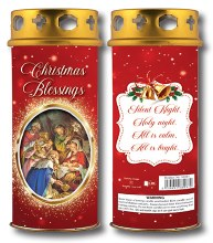 86987 Christmas Blessings Windproof  Candle 17cm