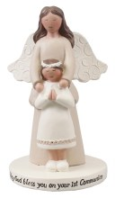 Praying Girl and Angel Statue 10cm