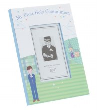 Blue Portrait First Holy Communion Photo Frame