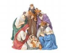 Nativity Scene 6 Figures One Piece (36cm)