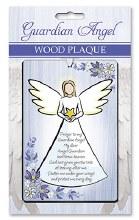 Guardian Angel Wood Plaque