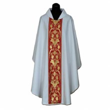 Chasuble with Red orphrey and intricate cross
