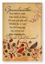 Grandmother Glass Plaque