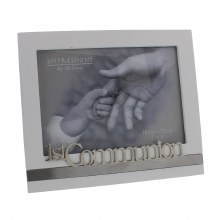 White First Holy Communion Frame holds 7