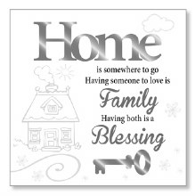 Home Blessing Block Art Plaque