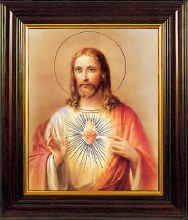 Sacred Heart Picture Framed (45 x 35cm)