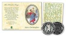 St Christopher pocket token booklet