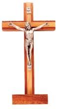 Mahogany Standing Crucifix (20 cm)