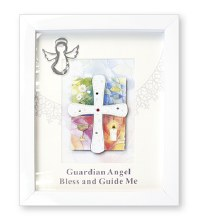 White Boxed Guardian Angel Frame
