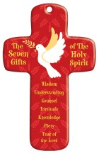 Holy Spirit Confirmation Wood Cross