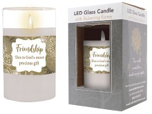 86723 Friendship LED Glass Candle 13 x 8 cm