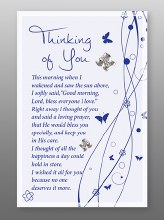 Thinking of You Glass Plaque 18 x 13 cm