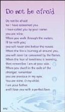 Do Not Be Afraid Prayercard