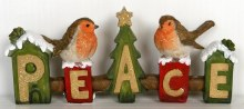 Peace Christmas Robins 20cm