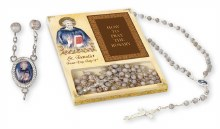 St Benedict Glass Rosary Beads