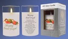 86715 Sleeping St Joseph LED Candle