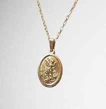 Sterling Silver St Michael Medal on Chain