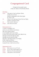 Congregational Card - New Roman Missal