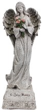 48408 In Loving Memory Angel Grave Statue 35cm