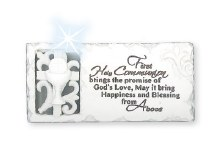 White First Communion Plaque