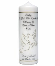 Personalised 'In Loving Memory' Memorial Candle (23cm)