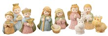 Woven Childrens Nativity Set 10 figures