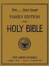 NAB Family Bible, White, Padded, Gilt edge