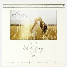 Amore Pearlised Wedding Day Photo Frame