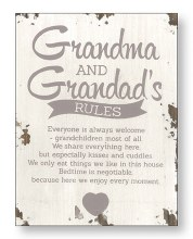 Grandma and Grandad Wood Plaque