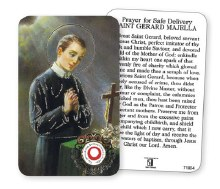 St Gerard Relic and Prayer Leaflet