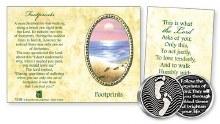 Footprints pocket token booklet