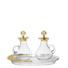 Gold Topped Cruet Set (130ml)