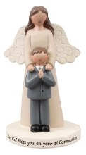 Praying Boy and Angel Statue 10cm