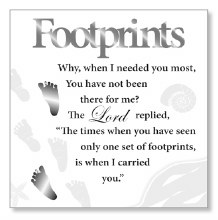 Footprints Block Art Plaque