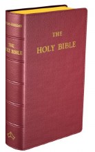 Douay Rheims Bible Pocket Burgundy Leather