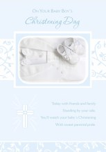 Christening Boy Card