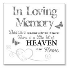 In Loving Memory Block Art Plaque