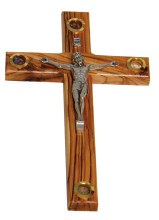 Olive Wood Crucifix (25cm)