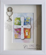 First Holy Communion Frame With Silver Plated Chalice Motif