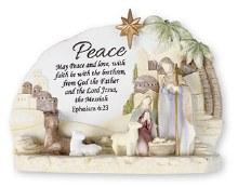 Colour Holy Family Peace  Nativity Scene