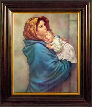 Our Lady of the Wayside Mahogany Framed Print (45 x 35cm)