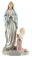 Our Lady of Lourdes and Bernadette  Veronese Statue (20cm)