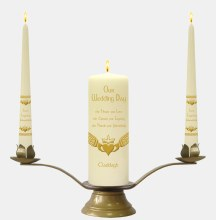 Ivory Claddagh Wedding candle Boxed Set