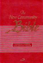 Red Leather Christian Community Bible with Index
