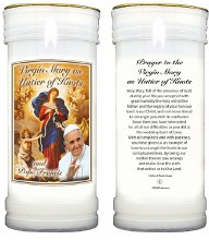 Pope Francis Pillar Candle