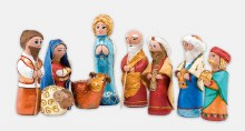 Carol of the Bells Nativity , hand crafted and painted Nativity Pieces