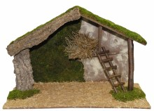 Large Wooden Shelter (78 x 36 x 48cm)