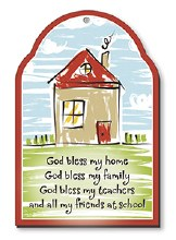God Bless My Home Plaque